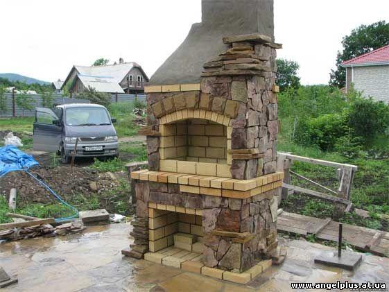 камин в стиле русская печь